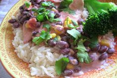 Crock-Pot Chicken With Black Beans, corn and Cream Cheese.
