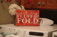 Wash Dry Fluff & Fold Repeat  Laundry Quote by thestickerhut