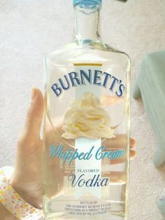 whipped cream flavored vodka!! Totally yummy and can be used in many different recipes!