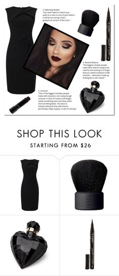 """""""Little Black Dress+ HAPPY HALLOWEEN+ Rtd"""" by novascotias4ever ❤ liked on Polyvore featuring Adrianna Papell, NARS Cosmetics, Lipsy, Smith & Cult and MAC Cosmetics"""