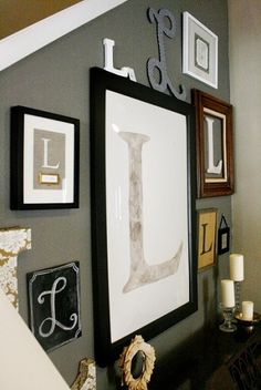 monogram wall --- Want to do in my house one day, proud of my new last name :).