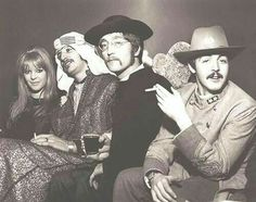 Linda?, Ringo, John, and Paul. Beatles