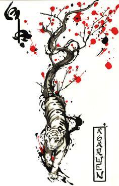 WIND TIGER TATTOO DESING by Agarwen on deviantART