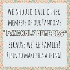 C'mon, guys! We're fandomly!