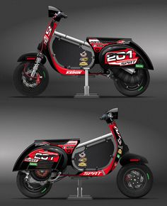 Vespa racing graphic design researches.