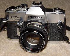 Vintage Petri Model FT EE 35mm SLR Film Camera, Circa 1969 - 1973.