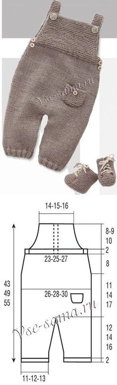 Babyspielanzug – Knitting Patterns For Kids How To Start Knitting, Knitting For Kids, Free Knitting, Crochet Baby Boots, Crochet Baby Clothes, Baby Vest, Baby Pants, Baby Outfits, Kids Outfits