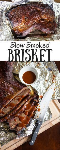 Brisket Savory brisket slow smoked on the grill, Texas style! All you need is salt, pepper and a big ol' hunk of meat.Savory brisket slow smoked on the grill, Texas style! All you need is salt, pepper and a big ol' hunk of meat. Grilled Brisket, Beef Brisket Recipes, Bbq Brisket, Smoked Beef Brisket, Barbecue Recipes, Grilling Recipes, Meat Recipes, Brisket On The Grill, Spinach Recipes
