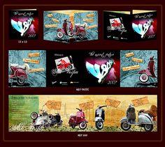 brochure design for the vespa company
