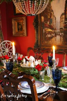 4 christmas tablescapes
