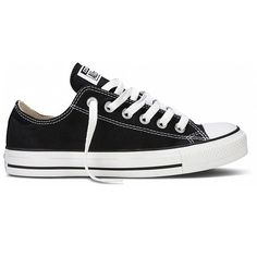 Make a statement in Converse Chuck Taylor Black Canvas iconic low top oxfords with old skool kool! An American comfy classic with high profile style! Constructed with the traditional white rubber cap