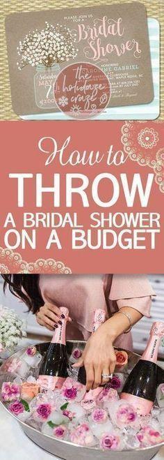 How to Throw a Bridal Shower On a Budget: Tips and tricks. #weddingplanningonabudget