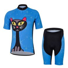 9bd7db531 Women s Cycling Jerseys Set Cat Printed Short Sleeve Summer Sport Suit Team  MTB Wear Ropa Ciclismo