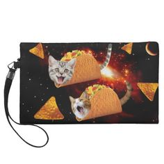 Taco Cats Space Wristlet