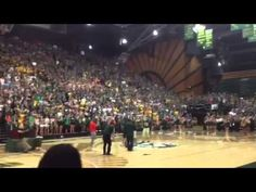 ▶ Colorado State University Student Wins Tuition for One Year by Sinking Half Court Shot - YouTube