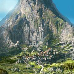 32 Trendy Ideas For Fantasy Landscape Art Castles Rpg Fantasy City, Fantasy Castle, Fantasy Map, Fantasy Places, Medieval Fantasy, Fantasy Artwork, Fantasy World, Fantasy Art Landscapes, Fantasy Landscape