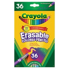 Kids' Colored Pencils - Crayola Erasable Colored Pencils Art Tools 36 Count Perfect for Art Projects and Adult Coloring >>> You can find out more details at the link of the image. Erasable Colored Pencils, Coloured Pencils, School Supplies, Art Supplies, Artist Pencils, Really Good Stuff, Color Pencil Art, Easter Baskets, Funny Animal Pictures