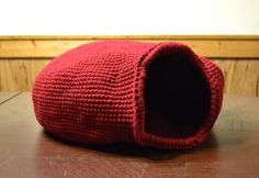 Crochet Cat Cave Large Size Pet Bed Handmade  by LittlestSister