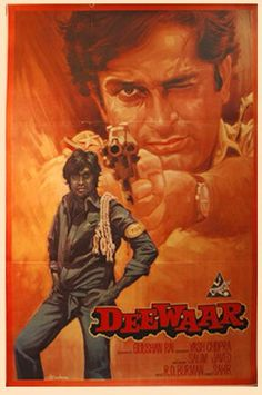 Deewaar: Amitab Bacchan and Shashi Kapoor starrer Indian Classic Old Film Posters, Cinema Posters, Movie Poster Art, Retro Posters, Vintage Posters, Hindi Bollywood Movies, Bollywood Posters, Bollywood Party, Old Movies