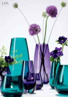 Decorating with purple, teal, & yellow accents