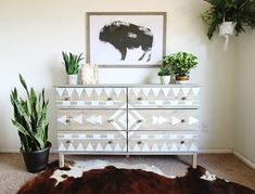 Stencils sometimes get a bad rap for looking a little amateur, but these 11 sophisticated stencil projects prove that you don't need to be a master painter to paint a masterpiece. The trick to an elegant design is starting with a stylish stencil (or crafting your own!), picking the right color palette—and then letting it loose on every surface in your home. Save these ideas for your design file, and scroll to the bottom for our list of must-visit stencil sources.