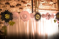 Beautiful paper flower backdrop.  Paper flower backdrop for wedding , bithdays and homedecor.