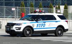 New York, New York NYPD Ford Police interceptor vehicle.