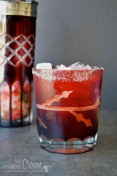 Strawberry Basil and Fresh Cut Grass Martini