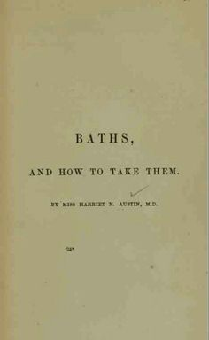 baths and how to take them