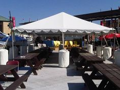 Festivals have loads of picnic tables. Cover a few with tents for shade Picnic Tables, Tents, Festivals, Special Events, Shades, Gallery, Cover, Frame, Outdoor Decor