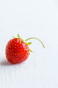 This fresh, petite strawberry is a delicious and bright hue of red.    red color inspiration