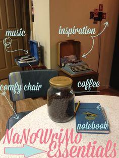 NaNoWriMo essentials.