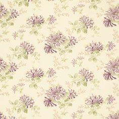 Honeysuckle Trail Grape Floral Linen Mix Fabric