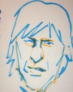 いいね!6件、コメント1件 ― @1mindrawのInstagramアカウント: 「#1mindraw #jeffbeck #ジェフベック #19440624 #birthday #誕生日 #portrait #筆ペン画」