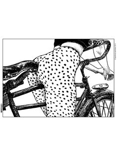 Apollonia Saintclair 409 - 20130915 Le velociraptor (The velocirapor) Art Print Art And Illustration, Illustrations, Portrait Illustration, Art Beauté, Serpieri, Bike Art, Oeuvre D'art, Erotic Art, Fantasy Art