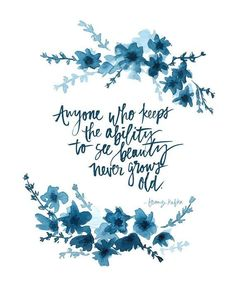 Hand Lettered and Watercolored Indigo Art Print- Franz Kafka Quote - Cute Quotes Cute Quotes, Words Quotes, Sayings, Hand Quotes, Pretty Quotes, Advice Quotes, Success Quotes, Kafka Quotes, Never Grow Old