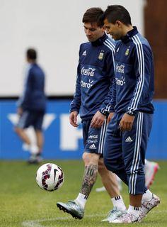 Sergio Aguero and Messi