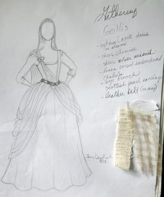 Gellis Duncan's (Lotte Verbeek) Gathering Gown from Terry Dresbach for Outlander…