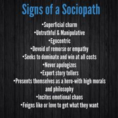 If you are unfortunate enough to fall for a narcissistic sociopath you are screwed. They are the most sadistic predators on the spectrum. They are on the extreme ends of NPD and ASPD. Narcissistic People, Narcissistic Behavior, Narcissistic Abuse Recovery, Narcissistic Sociopath, Narcissistic Personality Disorder, Sociopathic Behavior, Sociopath Traits, Psychopath Sociopath, Frases