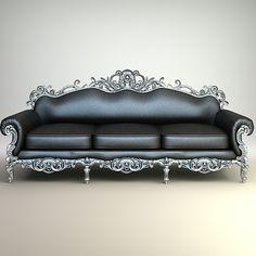 baroque sofa interior 3d model - Ornate Baroque Sofa by Agior LOVE IT