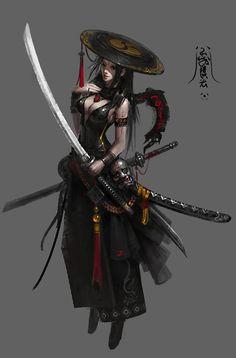 黑衣, sanxian sanxian on ArtStation at https://www.artstation.com/artwork/RD5vE