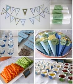 Cute boy baby shower or birthday party