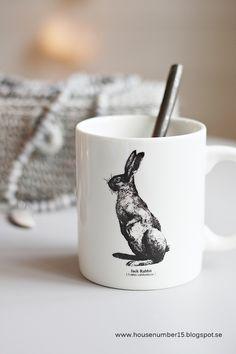 Mug jack rabbit House number 15 via Nat et nature Jack Rabbit, Rabbit Art, Number 15, Spring Blossom, Girl And Dog, House Numbers, Colour Board, Soft Colors, Colours