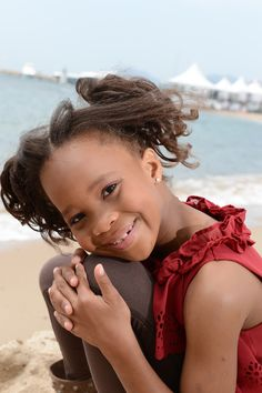 Newcomer Quvenzhané Wallis, who plays Hushpuppy in BEASTS OF THE SOUTHERN WILD, Cannes 2012