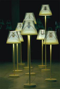 RADI DESIGNERS Fabulation - lampe Date de création: 1999  Miroir sans taint serigtaphié, acier et époxy Éditeur: Kréo