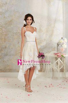 2014 Wedding Apparel A Line Spaghetti Straps Sleeveless Asymmetrical With Beading/Sequins