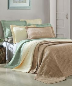 Look at this #zulilyfind! Papyrus Camden Reversible Coverlet Set #zulilyfinds