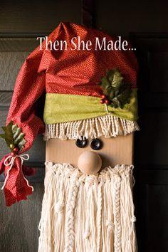 Then she made...: Empty Fabric Bolt Santa
