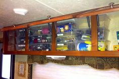 Rv camper storage organization ideas travel trailers (11)