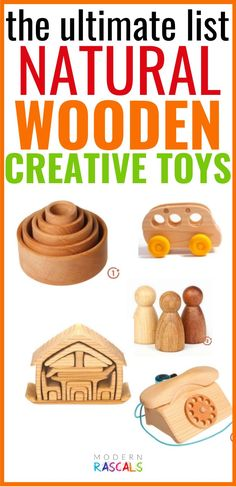 We absolutely love all the colour themed wooden toys we have but there is something about natural wooden toys that hold a special place in our hearts. That natural beauty shines through when there is no dye applied and the best part is that our natural wooden toys are a non-toxic kids toy that your children will love for years to come. A win-win for parents and kids alike! kidstoys Grimm's Toys, Baby Toys, Kids Toys, Toys For Us, Breastfeeding Support, Unique Toys, Baby Development, Creative Play, Imaginative Play